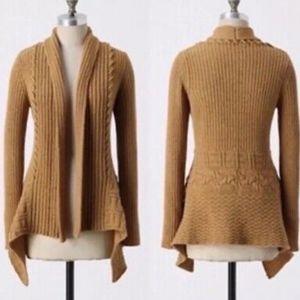 Anthropologie Knitting Needles Wool Cardigan